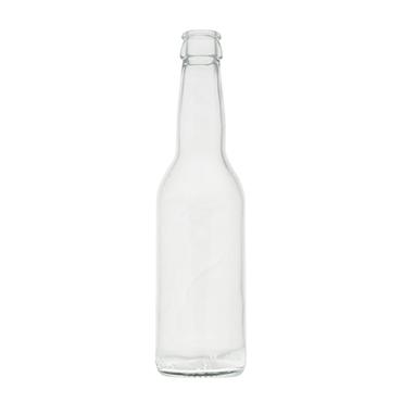 Flaske 0,33 klar/transparent