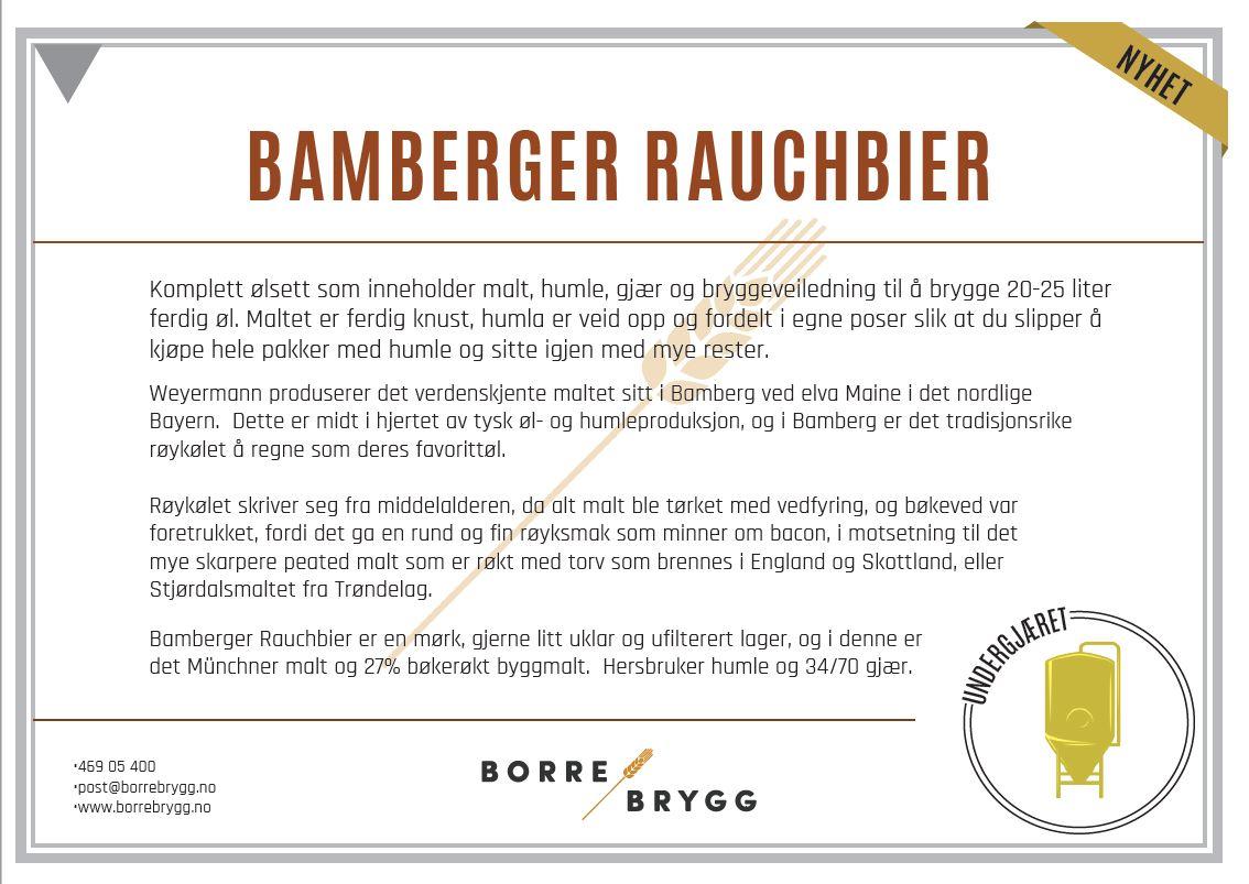 Ølsett 25l Bamberger Rauchbier
