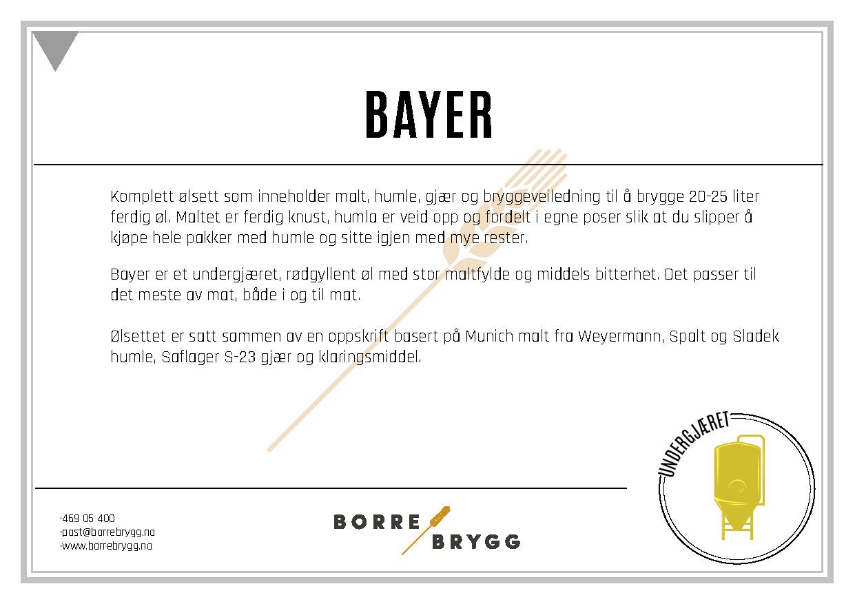 Ølsett 25l Bayer