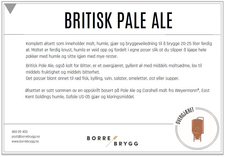 Ølsett 25l Britisk Pale Ale