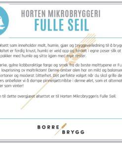 Ølsett 25l HMB Fulle Seil