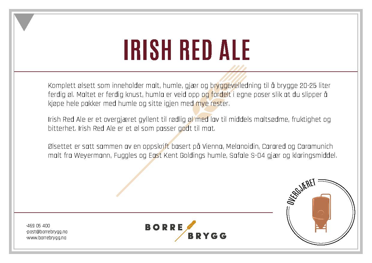 Ølsett 25l Irish Red Ale
