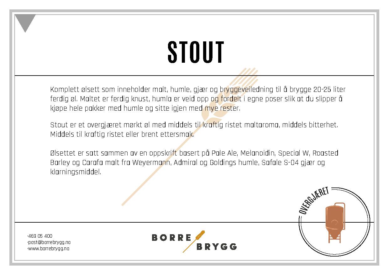 Ølsett 25l Stout