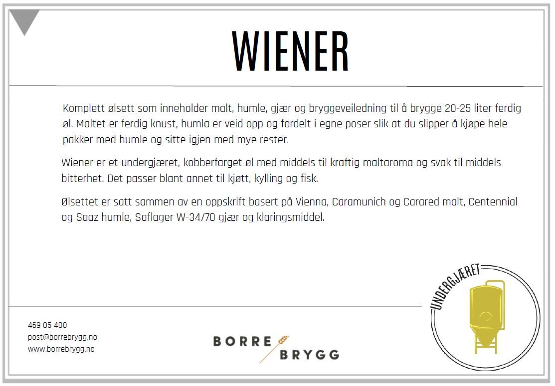 Ølsett 25l Wiener