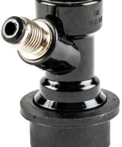 Ball Lock Ølkobling m/gjenger sort