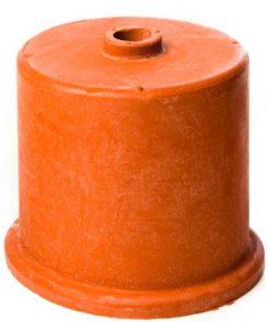 Gummihette rød 40 mm m/ 9mm hull