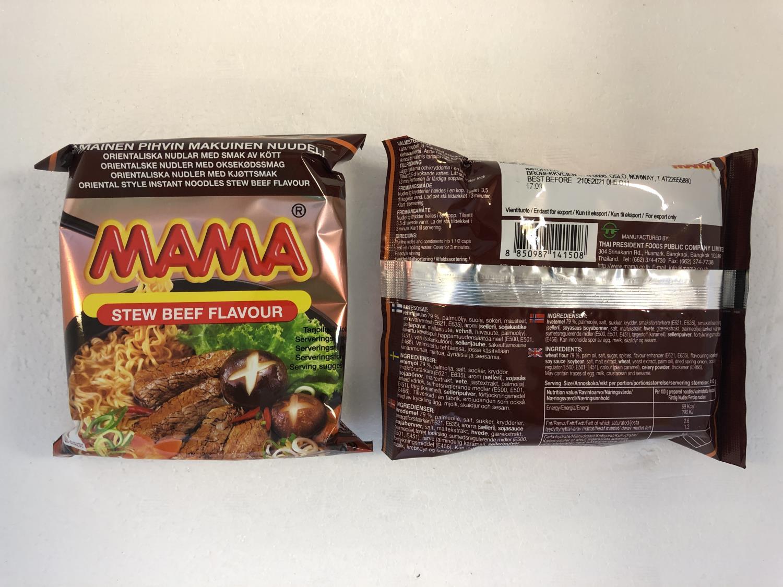 'MAMA Instant Noodles Beef Stew 60gr å