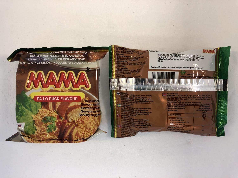 'MAMA Instant Noodles Pa-Lo Duck 55gr