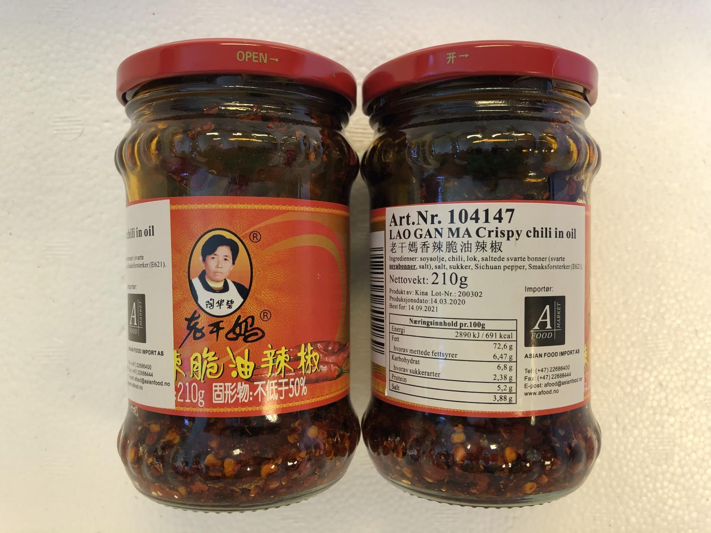 LAO GAN MA Chili in Oil 210gr ø