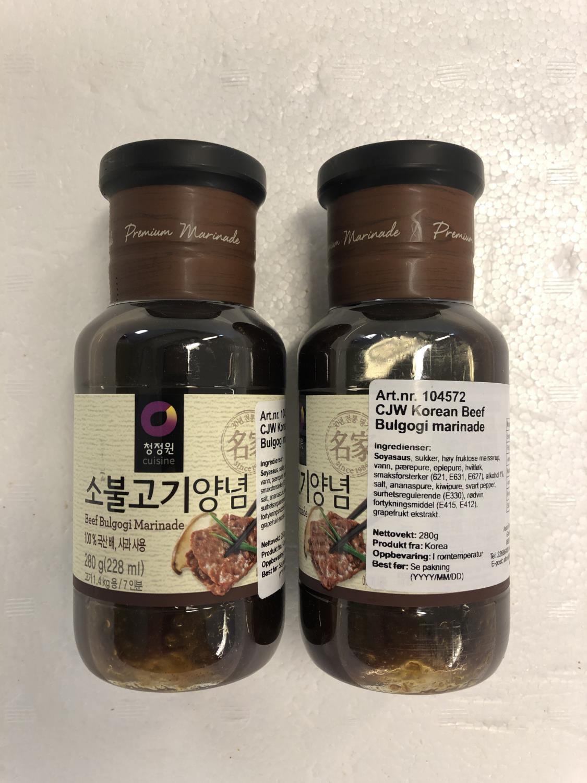 'CJW Korean Beef Bulgogi Marinade 280gr å