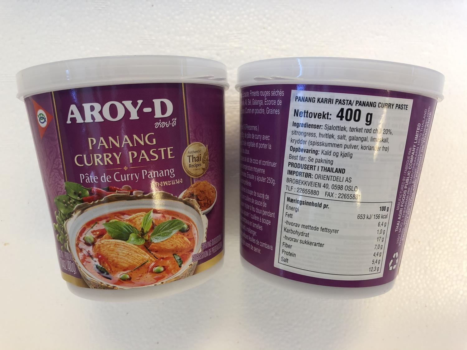'AROY-D Panang Curry Paste 400gr