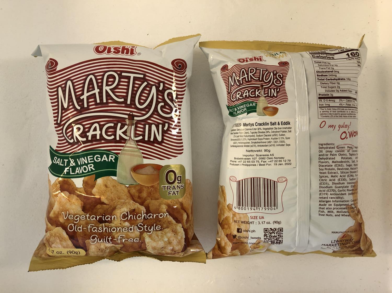 'OISHI Marty's Crackling Salt & Vinegar 90gr