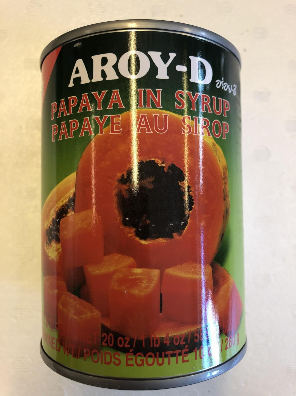'AROY-D Papaya in Syrup 565gr