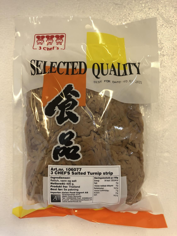 '3 CHEF'S Salted Turnip Strip 400gr