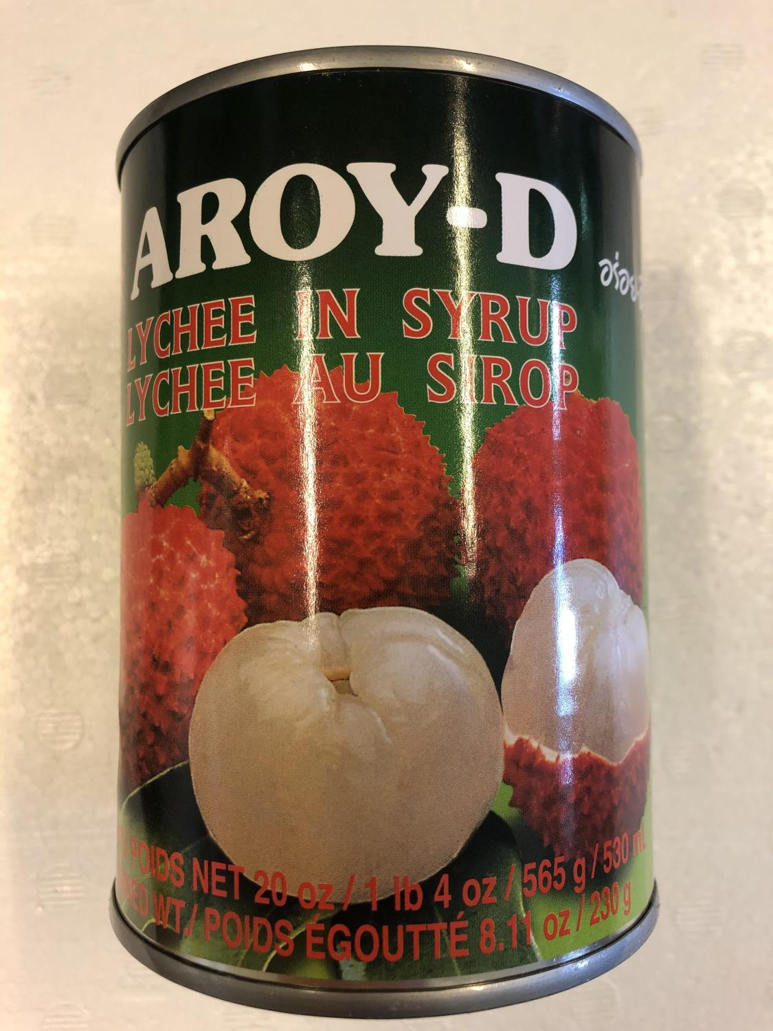 'AROY-D Lychee in Syrup 565gr