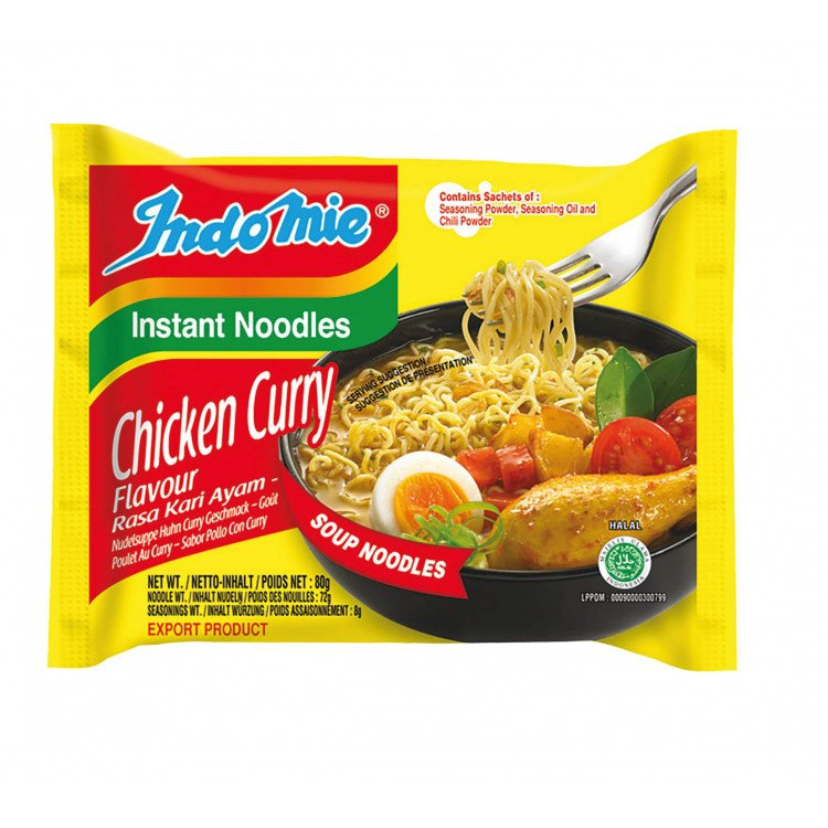 INDOMIE Instant Noodle Curry Chicken 80gr ø