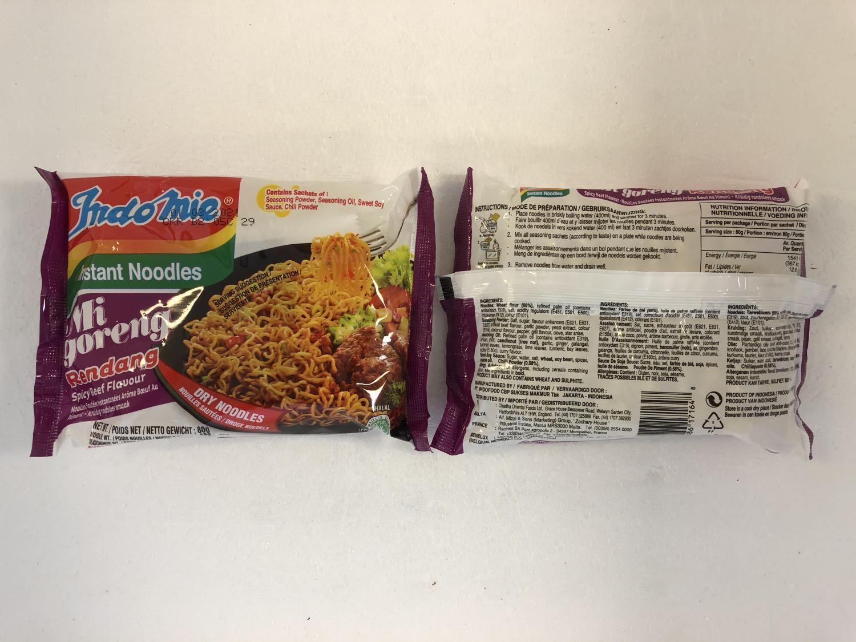 'INDOMIE Instant Noodle Mi Goreng Rendang 80g