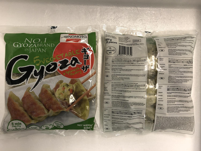 AJINOMOTO Vegetable Gyoza with Spinach Pastry 600gr ø