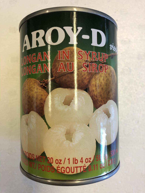'AROY-D Longan in Syrup 565gr å