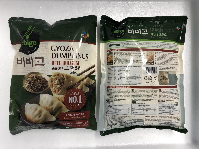'BIBIGO Gyoza Dumplings Beef Bulgogi 600gr å