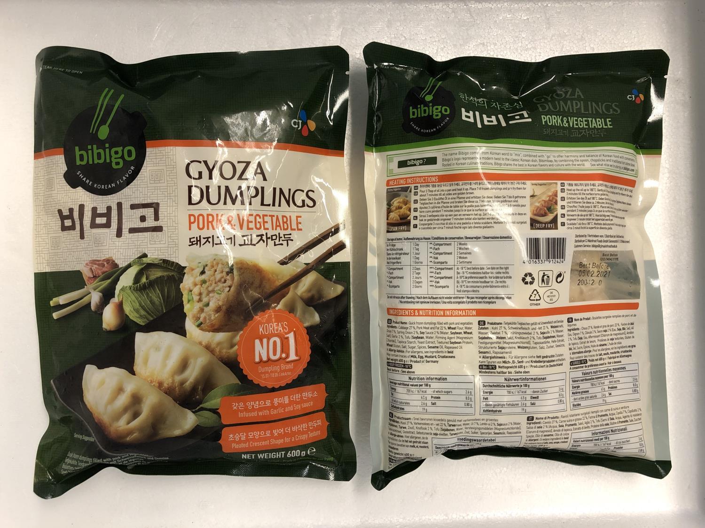 'BIBIGO Gyoza Dumpling Pork & Vegetable 600gr å