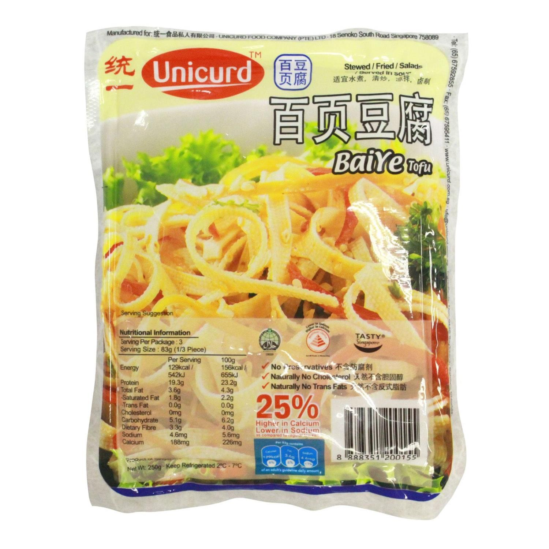 UNICURD Bai Ye Tofu T36 250gr ,