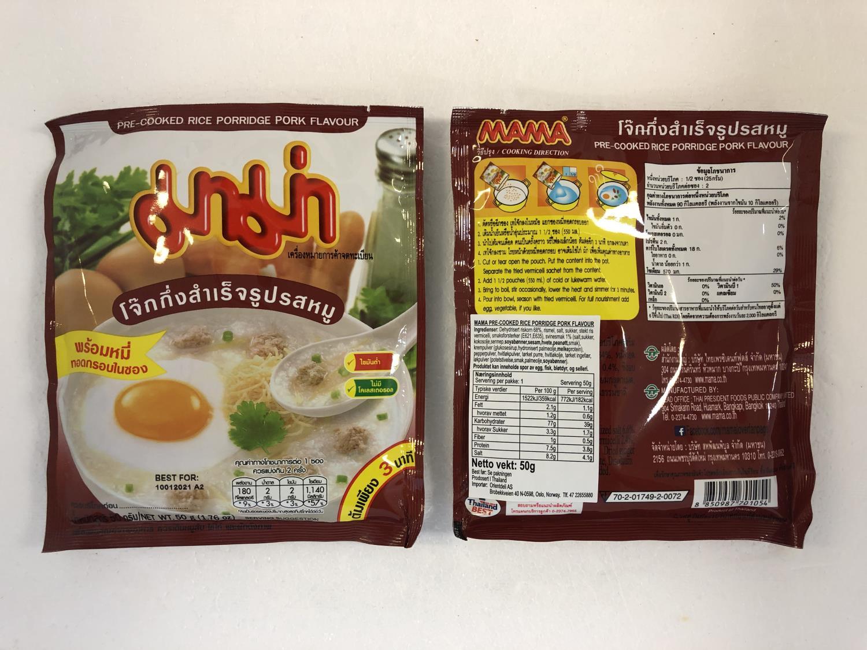 'MAMA Pre-Cooked Rice Porridge Pork 50g