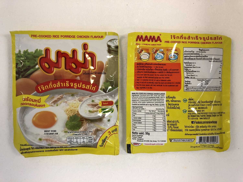 'MAMA Pre-Cooked Rice Porridge Chicken 50gr