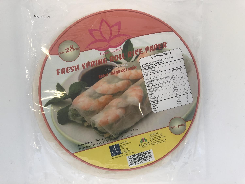 LOTUS Fresh Springroll Rice Paper 28cm 400g