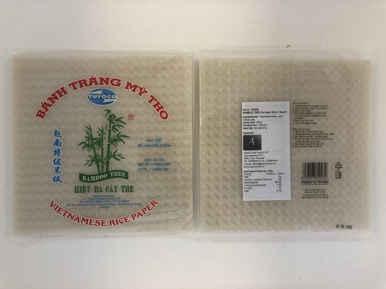 BAMBOO TREE Rice Paper 22cm 340g