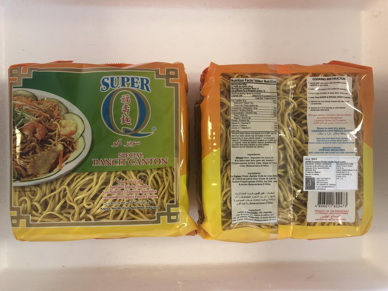 SUPER Q Special Pancit Canton Chinese Noodle 454gr ø