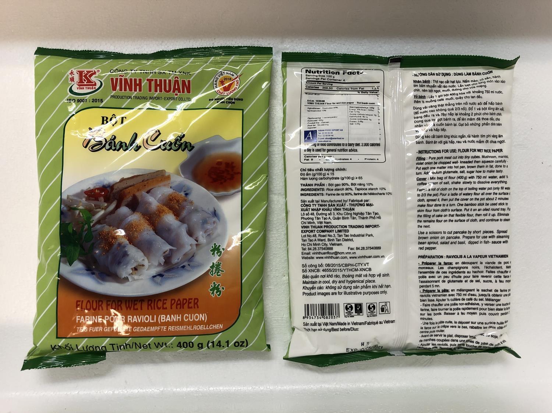 'VINH THUAN Flour for Wet Rice Paper 400gr