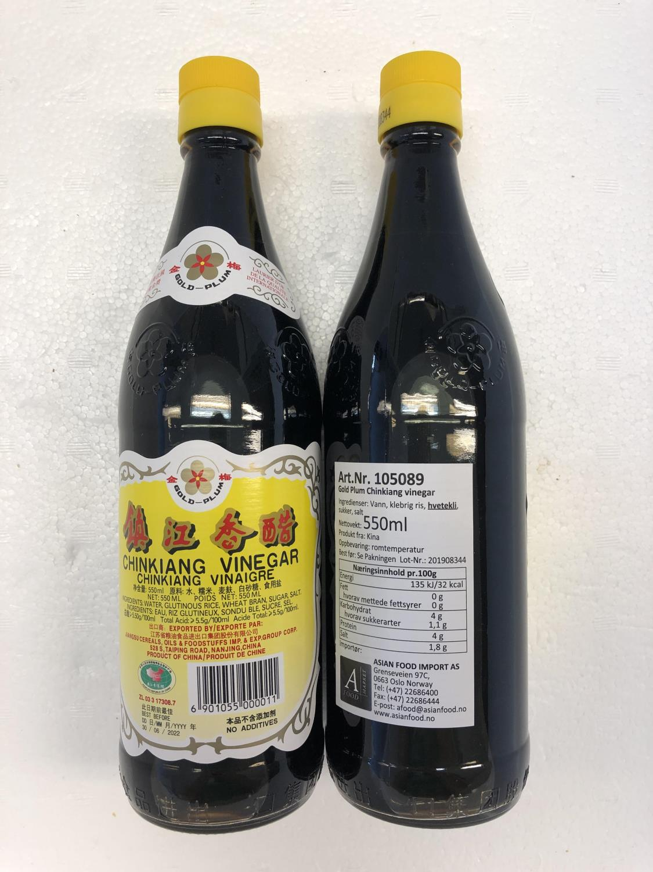 'GOLD PLUM Chinkiang Vinegar 550ml å