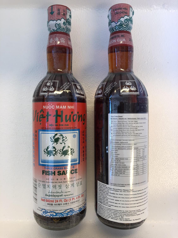 THREE CRABS Fish Sauce 682ml