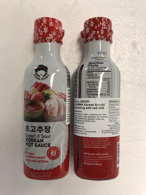 'AJUMMA Korean Kimchi Seasoning with Red Chilli 310gr å
