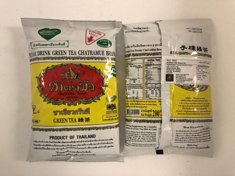 'NUMBER ONE CHATRAMUE Green Tea (Yellow) 200gr ø