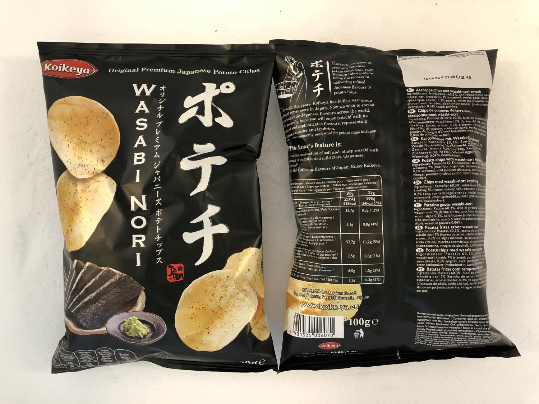 'KOIKEYA Potato Chips Wasabi Nori 100gr