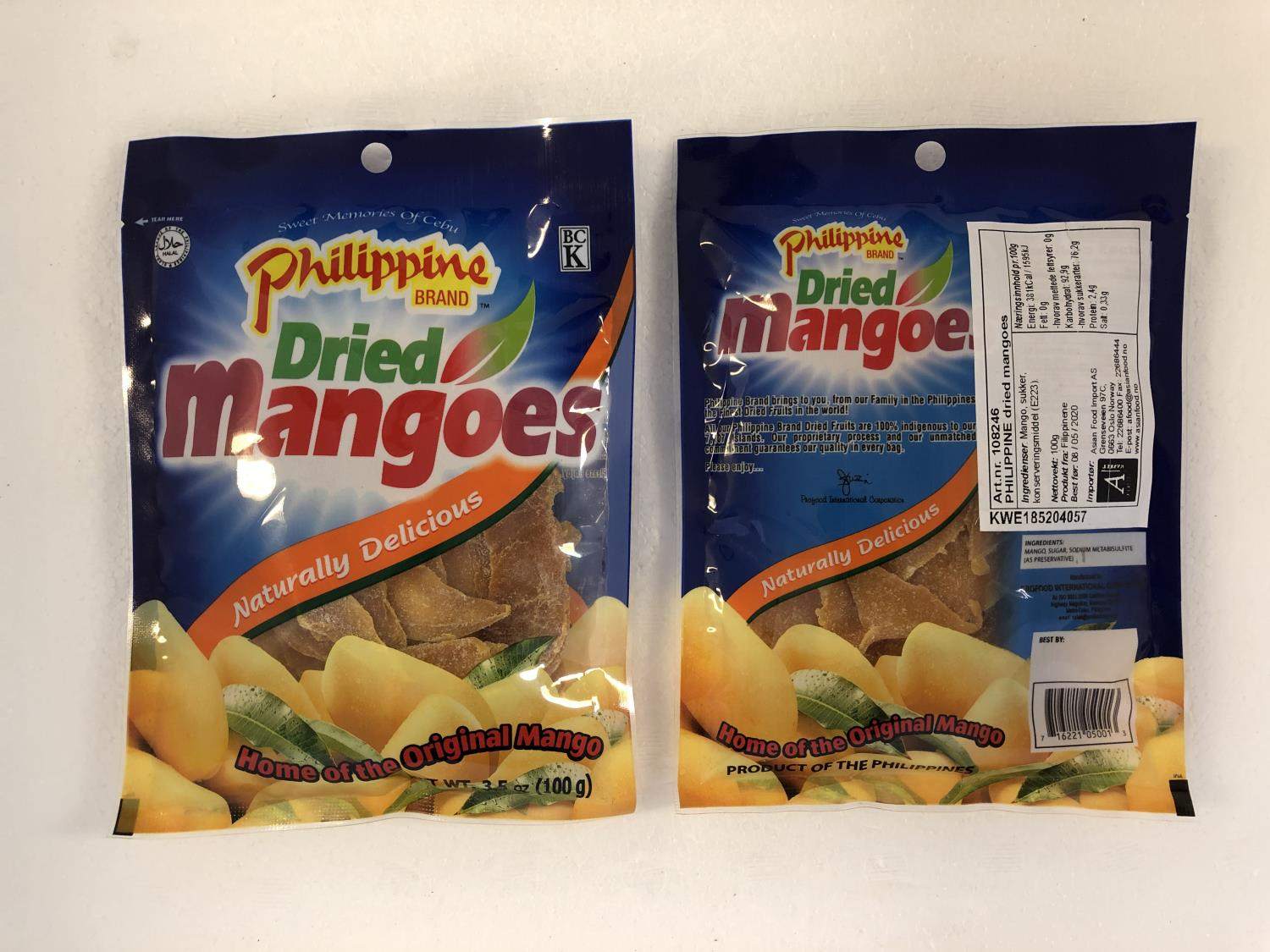 'PHILIPPINE Dried Mangoes 100gr