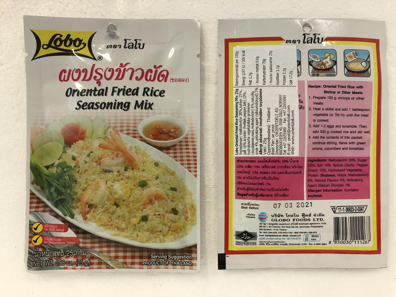 'LOBO Oriental Fried Rice Seasoning Mix 25g