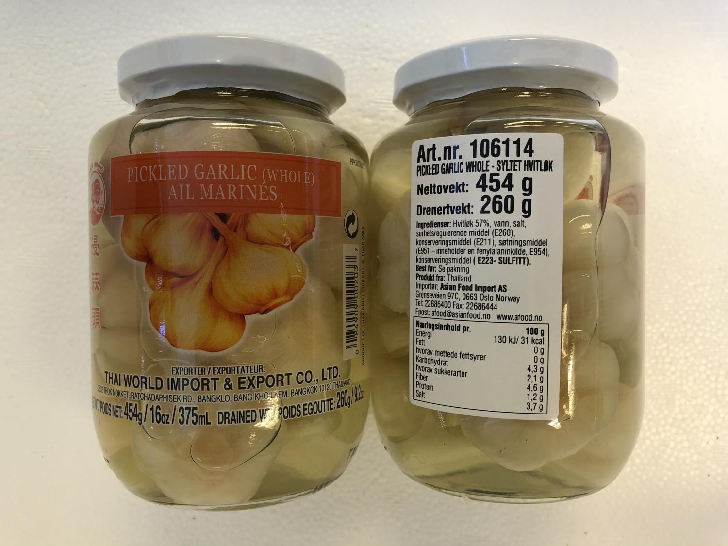 COCK Pickled Garlic Whole 454g