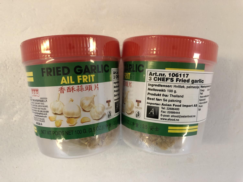 3 CHEF'S Fried Garlic 100g