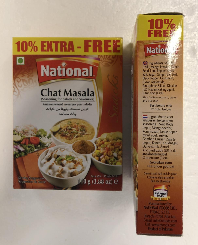 'NATIONAL Chat Masala 110g