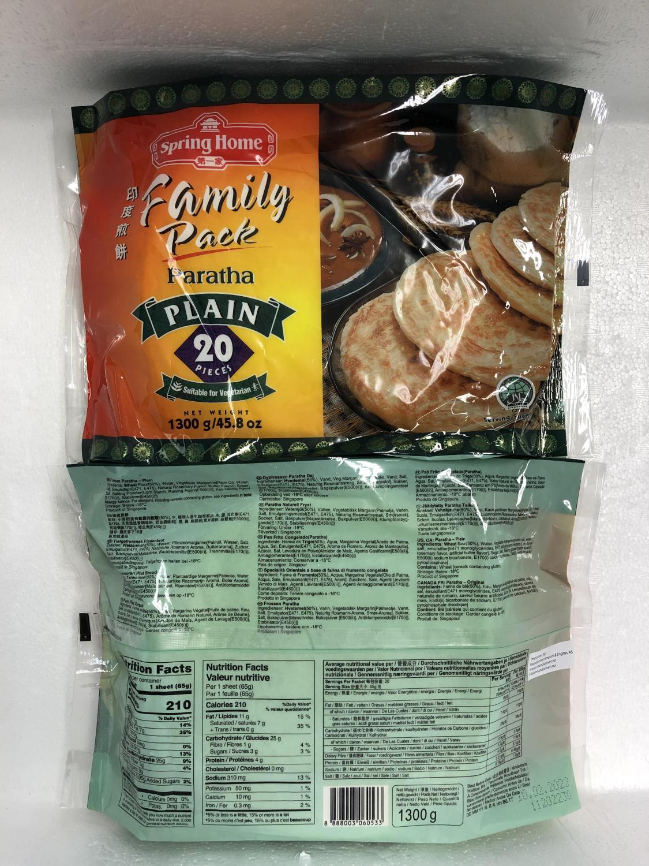 SPRING HOME Roti Paratha Plain 1,3kg å