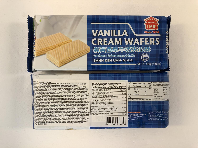 I MEI Cream Wafer Vanilla 200gr å
