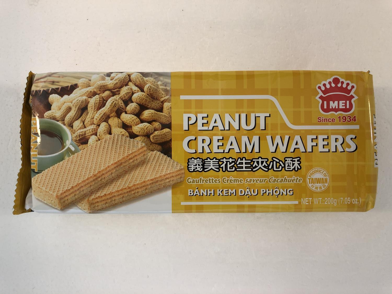 I MEI Cream Wafer Peanut 200gr å