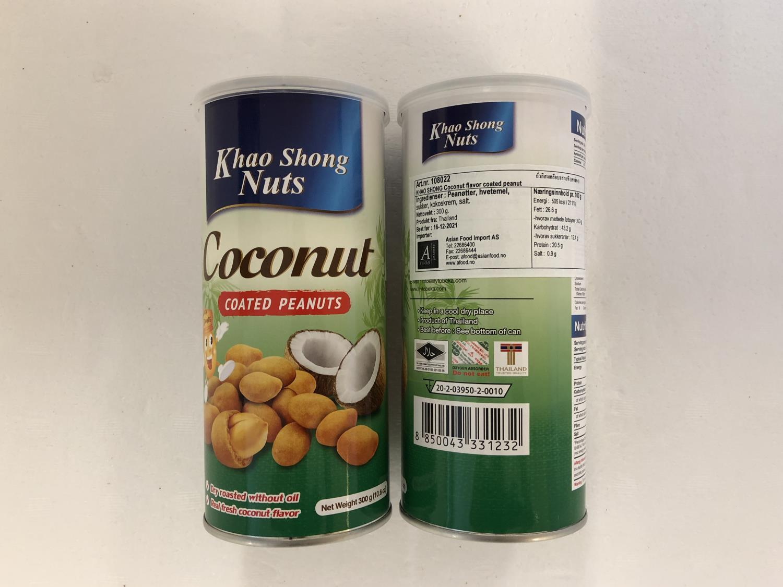 'KHAO SHONG Coconut Coated Peanuts 300gr æ