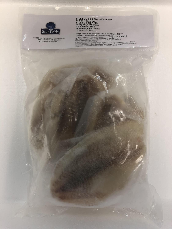 Tilapia Filet 140/200 1kg å