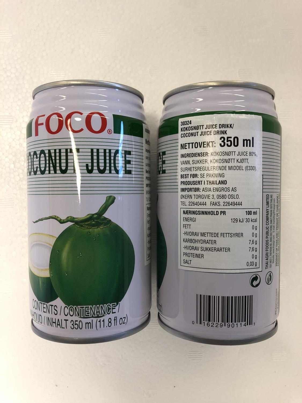 'FOCO Coconut Juice 350ml æ