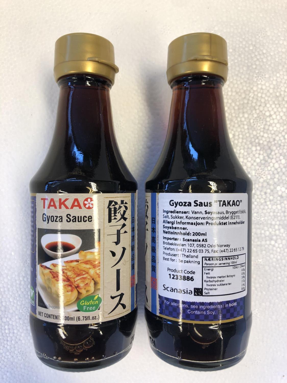 "TAKAO Gyoza Sauce 200ml """""""