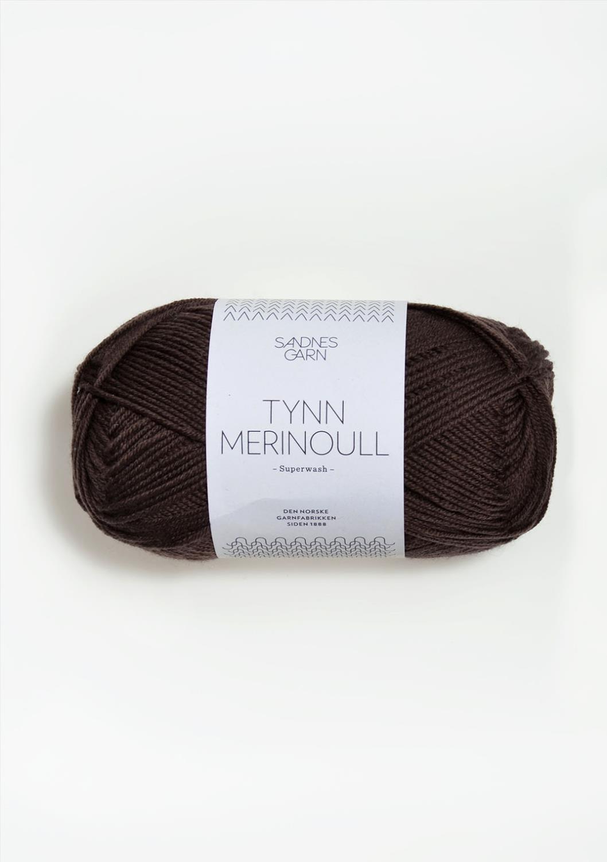 2571 Tynn Merinoull Mørk Brun